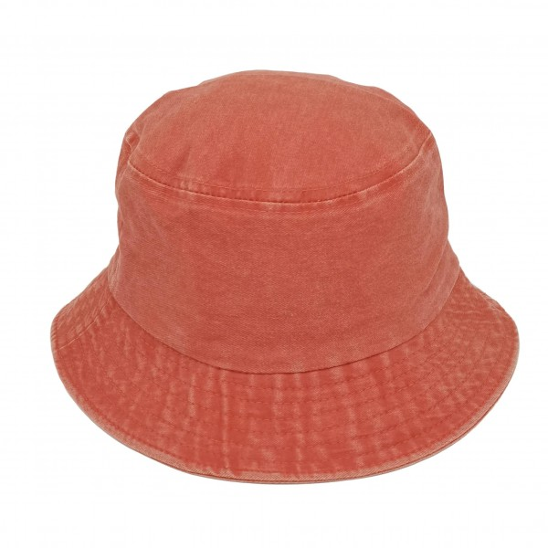 """Twill Bucket Hat.   - 100% Cotton - Hat Brim is Approximately 2.5"""" in Diameter  - Adjustable Drawstring Inside for Perfect Fit"""