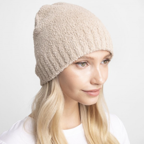 Solid Comfy Luxe Beanie.   - 100% Polyester  - One Size Fits Most
