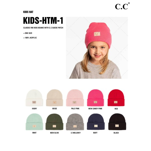 C.C KIDS-HTM-1 Unisex Knit Baby Beanie  - One Size Fits Most - 100% Acrylic