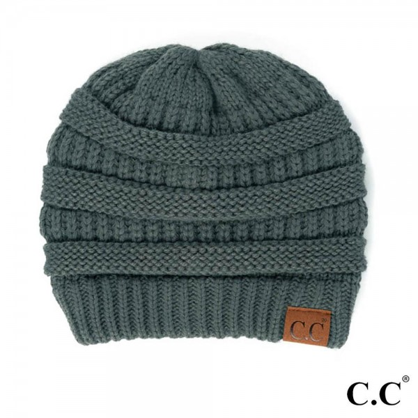 """C.C Hat-20A Solid Ribbed Beanie """"The Original"""" Beanie.  - One size fits most - 100% Acrylic - Matches C.C YJ-847, HW-21, MB-20A, and G-20"""