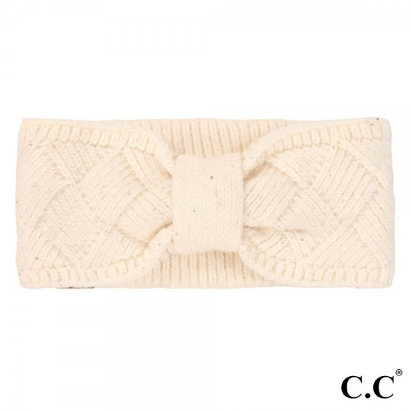 C.C HW-2073 Knit Headwrap with Sequin Detail  -42% Polyester / 35% Acrylic / 23% Nylon - One Size Fits Most