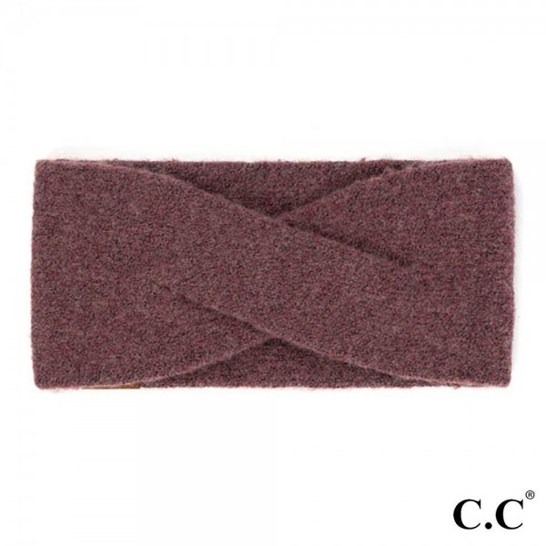C.C HW-2075 Recycled Yarn Headwrap  - 61% Recycled Yarn / 24% Polyester / 6% Cashmere / 5% Wool / 4% Spandex - One Size Fits Most