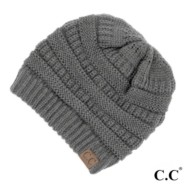 "C.C Hat-20A  Solid Ribbed Beanie ""The Original"" Beanie.  - One size fits most - 100% Acrylic - Matches C.C YJ-847, HW-21, MB-20A, and G-20"