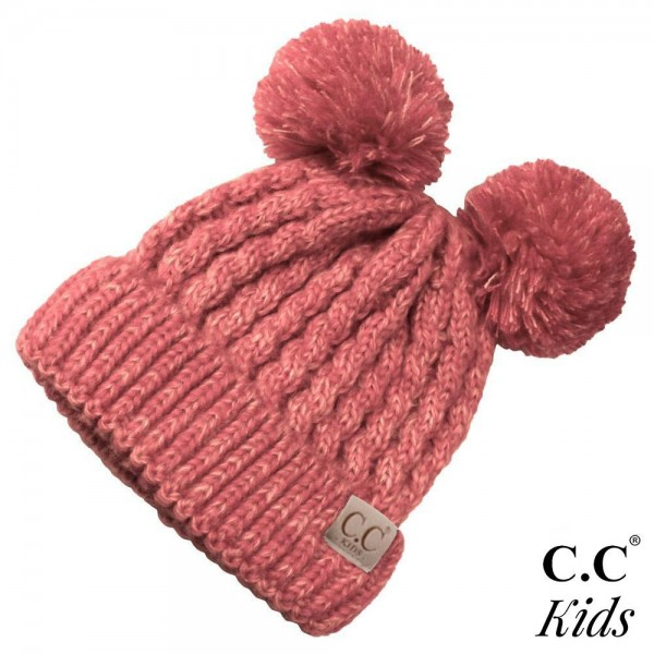 Wholesale c C KID Double pom beanie kids Acrylic Band circumference unstretched