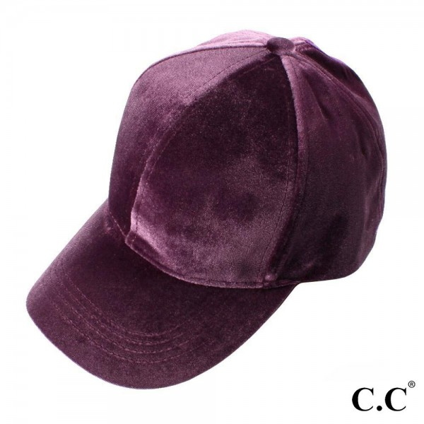 Wholesale cC BT Solid Color Velvet Ponytail Baseball Cap Polyester