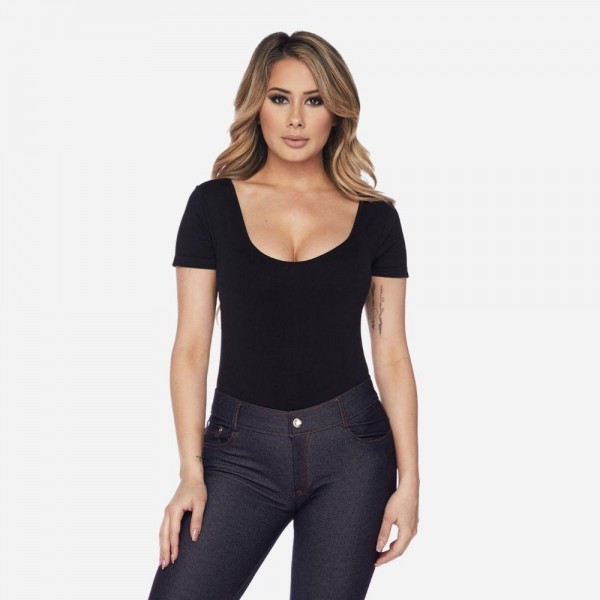 Change up your look with this bodysuit! Use it as the base for all of your day or night outfits! 