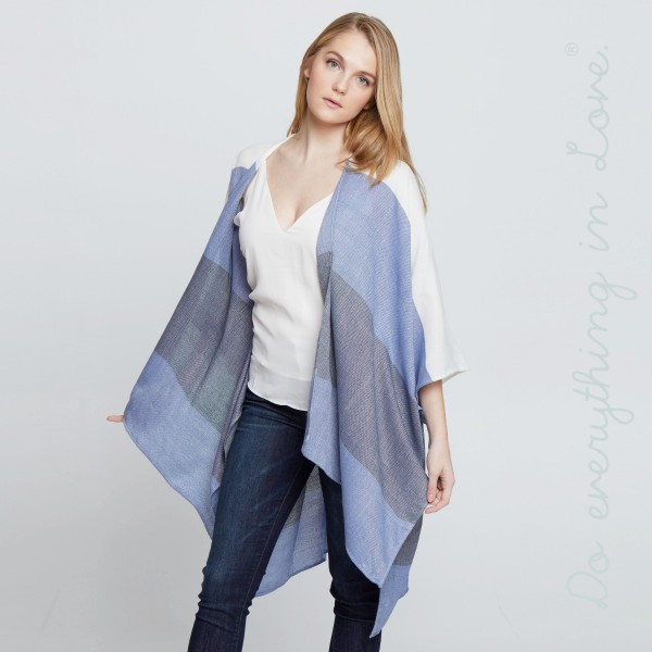 """Do everything in Love Brand Color Block Stripe Kimono.  - One size fits most 0-14 - Approximately 37"""" L  - 100% Acrylic"""