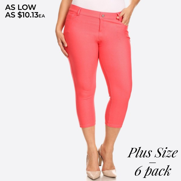 Wholesale women s Classic Plus Capri Jeggings o Capri jeggings light sheen jean