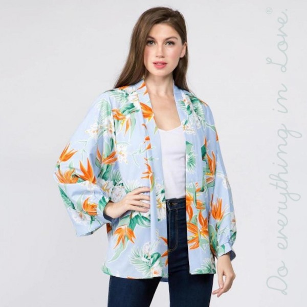 """Do everything in Love Brand Long Sleeve Lightweight Floral Print Kimono.  - One size fits most 0-14 - Approximately 30"""" L  - 100% Polyester"""