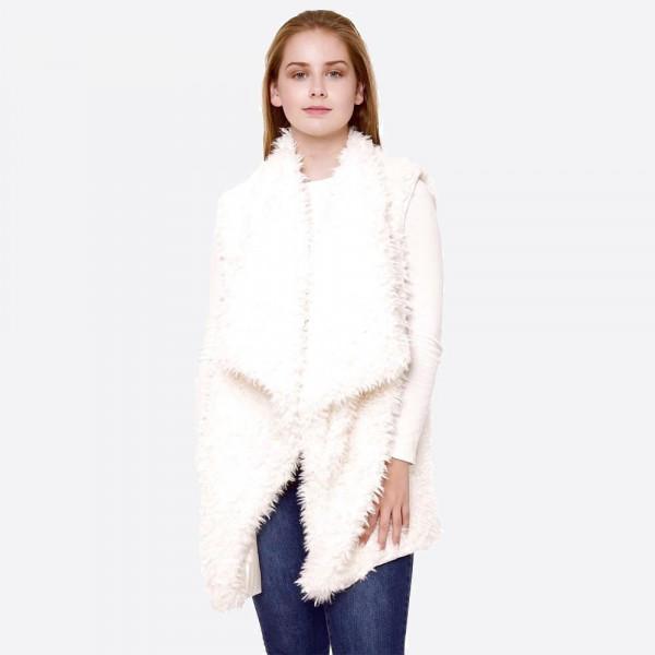 Wholesale faux fur vest One fits most L Polyester