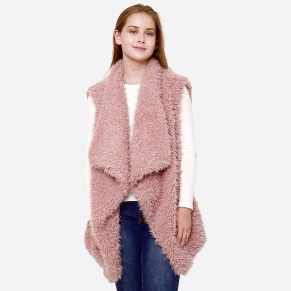 Wholesale women s Faux Fur Sherpa Vest One fits most L Polyester