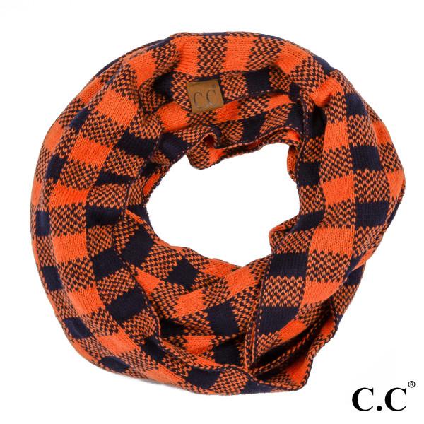 "C.C SF-92 Two tone game day infinity scarf  - 15"" W x 56"" L - 100% Acrylic"