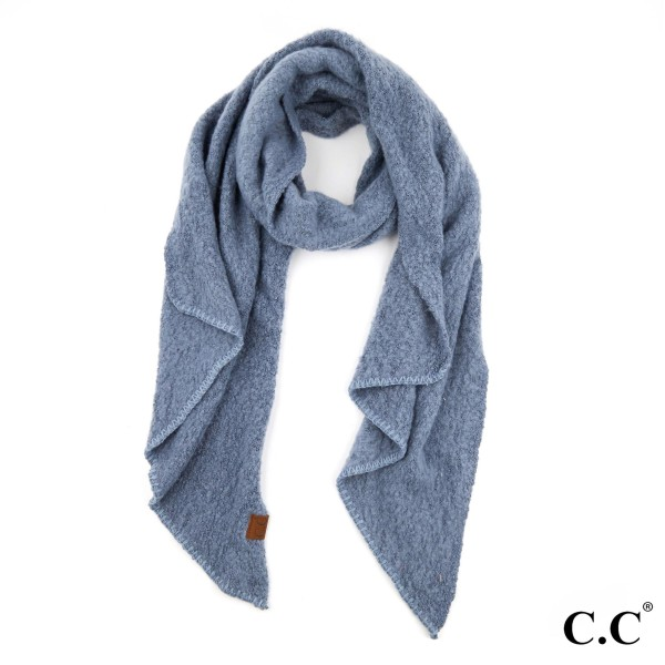 Wholesale c C SF Bias Cut Scarf Whipstitch Trim Polyester Boucle One fits most W