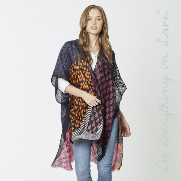 """Do everything in Love Brand Lightweight Multicolor Geometric Print Kimono.  - One size fits most 0-14 - Approximately 35"""" L - 100% Polyester"""