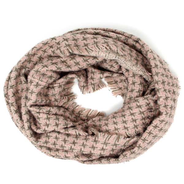 "Houndstooth print infinity scarf.   - Approximately 21"" W x 33"" L - 100% Acrylic"