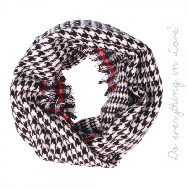 """Do everything in Love Brand Houndstooth Knit Infinity Scarf.  - Approximately 19"""" W x 68"""" L - 100% Acrylic"""