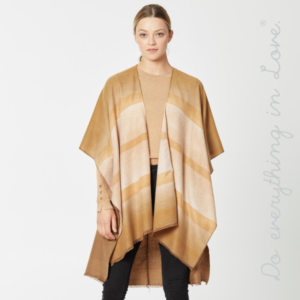 "Do everything in Love brand ombre striped kimono.  - One size fits most 0-14 - Approximately 37"" L - 100% Viscose"