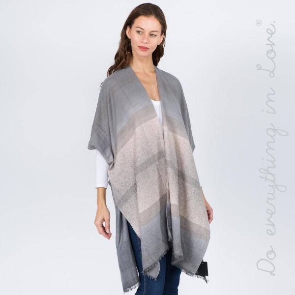 """Do everything in Love Brand Ombre Stripe Kimono.  - One size fits most 0-14 - Approximately 37"""" L - 100% Viscose"""