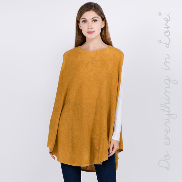 "Do everything in Love brand solid color knit sleeveless poncho.  - One size fits most 0-14 - Approximately 31"" L - 100% Acrylic"