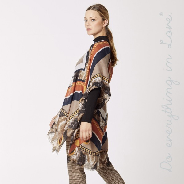 Wholesale do everything Love Brand Lightweight Designer Chain Print Kimono One f