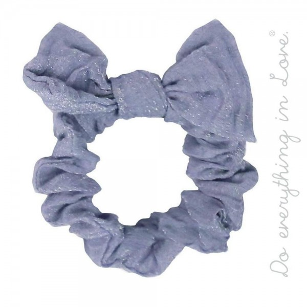 Wholesale do everything Love brand wrinkled knotted bow hair scrunchie One Polye