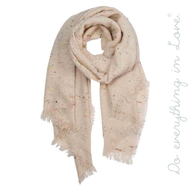 """Do everything in Love Brand Confetti Knit Scarf.  - Approximately 28"""" W x 80"""" L  - 100% Polyester"""