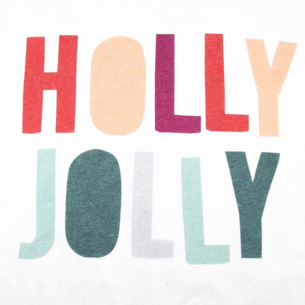 """White Gildan Dryblend short sleeve """"Holly Jolly"""" Christmas printed boutique graphic tee.  - Pack Breakdown: 6pcs / pack - 1-S / 2-M / 2-L / 1-XL - 50% Cotton, 50% Polyester"""