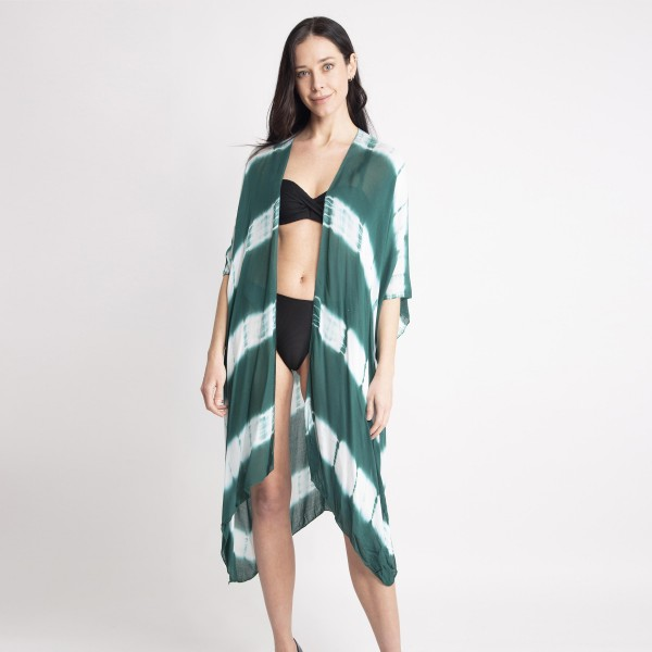 Wholesale women s Lightweight Tie Dye Kimono One fits most L Viscose