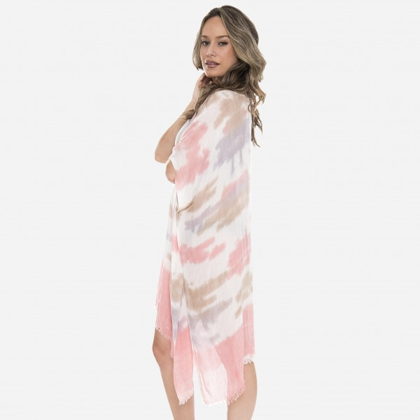 """Women's lightweight brushed ombre kimono.  - One size fits most 0-14 - Approximately 37"""" L - 100% Viscose"""