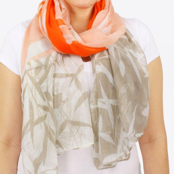 """Women's lightweight tulip floral scarf.  - Approximately 28"""" W x 70"""" L - 100% Polyester"""