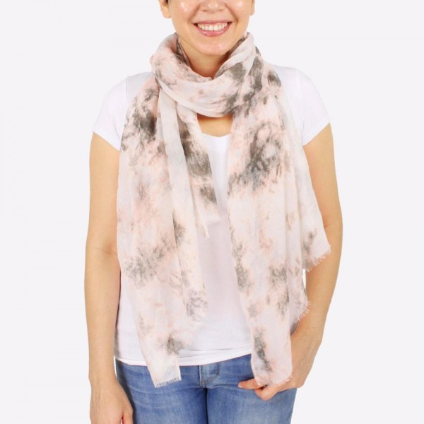 "Women's lightweight marble tie-dye scarf.  - Approximately 28"" W x 72"" L - 100% Polyester"