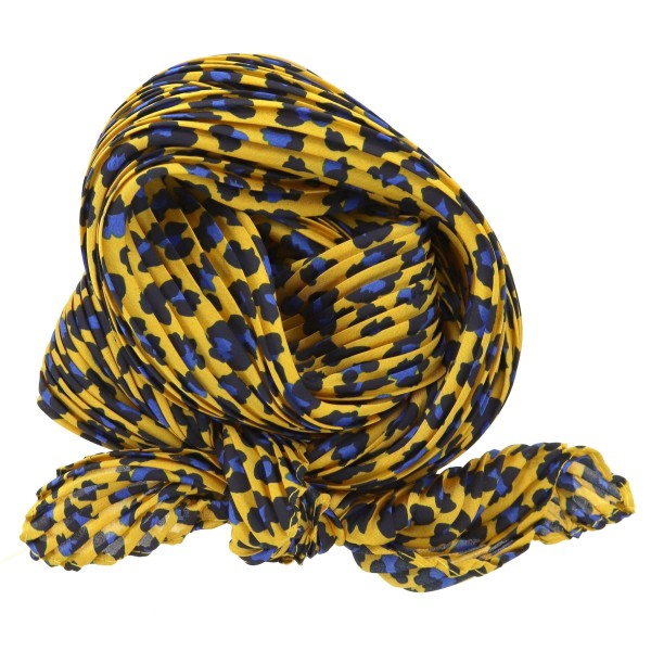 "Women's lightweight pleated leopard print neckerchief.  - Approximately 26.5"" x 26.5"" - 100% Polyester"