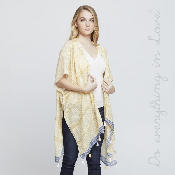 Wholesale do everything Love brand women s lightweight triangle geometric kimono