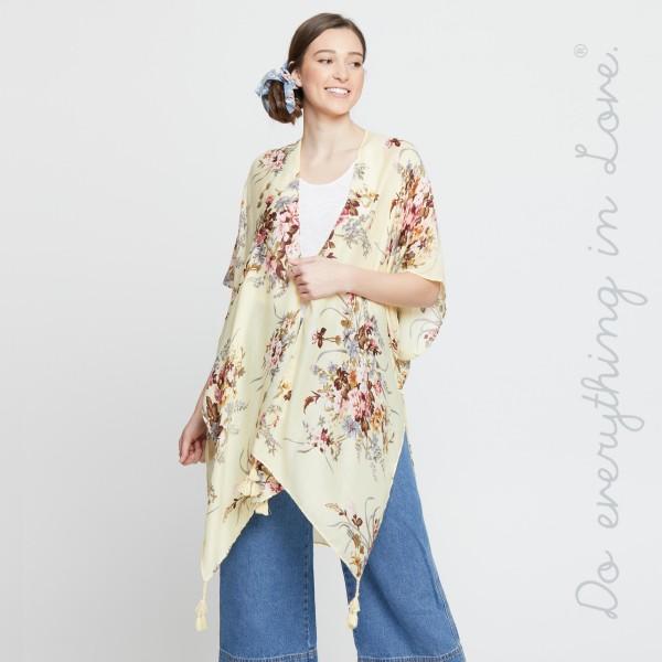 Wholesale do everything Love brand women s lightweight vintage floral kimono tas