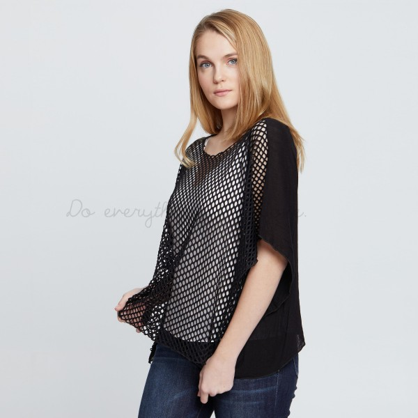 Wholesale do everything Love brand women s mesh crop swimsuit cover up top One f