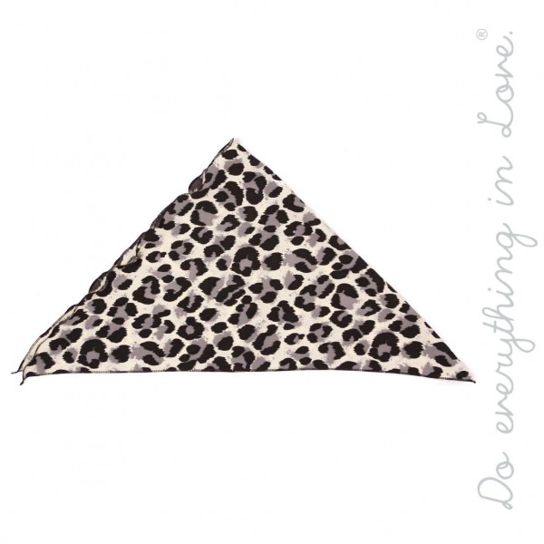 "Do everything in Love brand Ivory and Grey leopard print headwrap.  - One size  - Approximately 24"" L  - 100% Polyester"