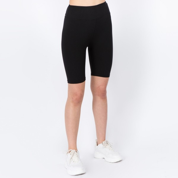 """Women's New Mix Brand Solid Color Active Biker Shorts.  - 3"""" elastic waistband - One size fits most 0-14 - Inseam approximately 8"""" L - Approximately 18"""" L overall - 92% Polyester, 8% Spandex"""