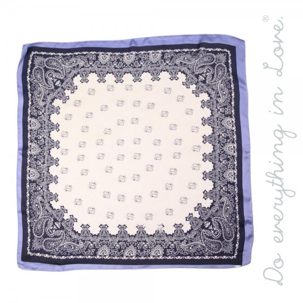 """Do everything in Love brand lightweight silky paisley print bandana scarf.  - Approximately 27"""" x 27""""  - 100% Polyester"""