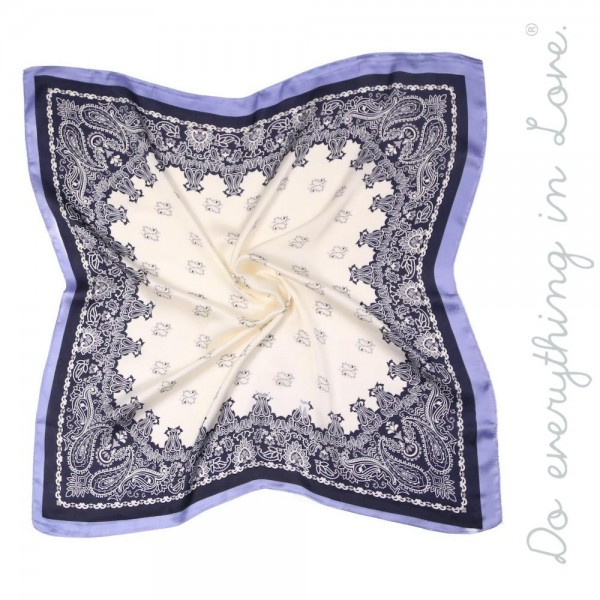 """Do everything in Love brand lightweight silky floral print bandana scarf.  - Approximately 27"""" x 27"""" - 100% Polyester"""