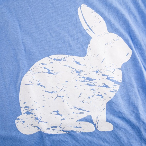 Gildan Softstyle brand short sleeve Distressed Easter Bunny printed boutique graphic tee.  - Pack Breakdown: 6pcs/pack  - 1-S / 2-M / 2-L / 1-XL - 100% Cotton