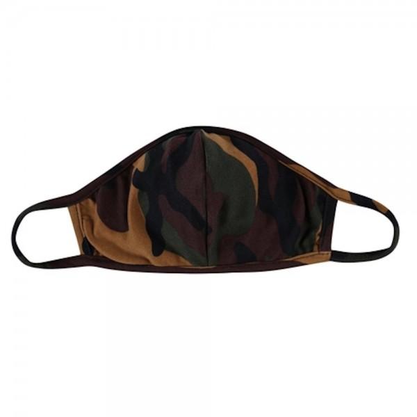 Wholesale reusable Camouflage T Shirt Cloth Mask Seam Machine Wash Cold Mild Det