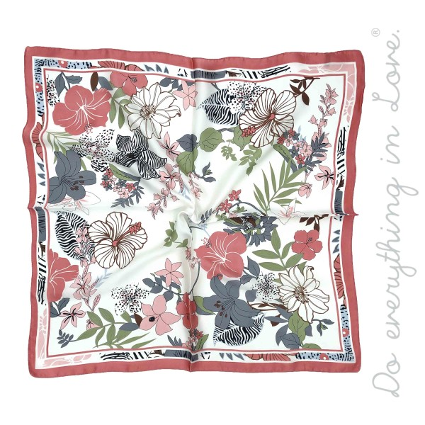 "Do everything in Love Brand Silky Vintage Floral Print Square Scarf.  - Approximately 27"" x 28""  - 100% Polyester"