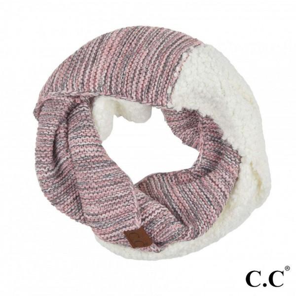 Wholesale c C INF Popcorn Yarn Sherpa Knit Infinity Scarf L W Acrylic Nylon