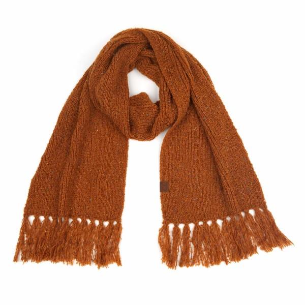Wholesale c C SF Confetti Boucle Yarn Knit Scarf Fringe Tassels L W Fringe Polye