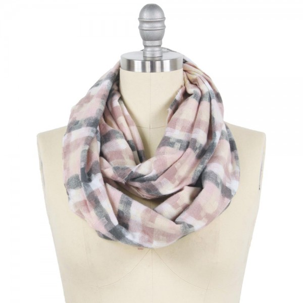 "Geometric Puzzle Woven Infinity Scarf.  - Approximately 15"" W x 31"" L - 100% Polyester"