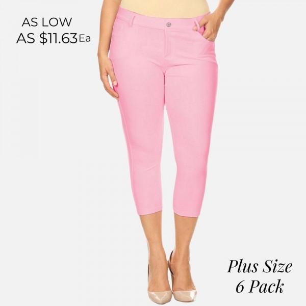 Wholesale women s Classic Plus Capri Jeggings o Capri jeggings light sheen jean
