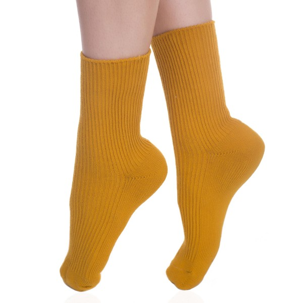 Solid Ribbed Knit Socks.  - One size fits most  - 80% Cotton, 17% Polyamide, 3% Spandex