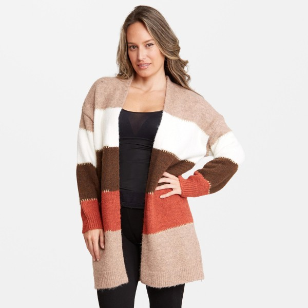 Wholesale women s Corlorblock Knit Cardigan One fits most L Acrylic Polyester Ny