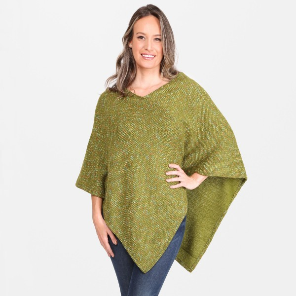 "Women's Confetti Knit Poncho.  - One size fits most 0-14 - Approximately 33"" L  - 100% Acrylic"