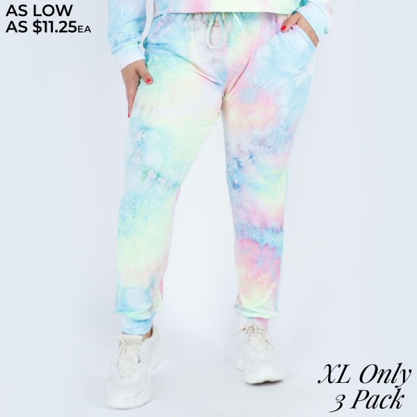 Wholesale women s Tie Dye Lounge Jogger Pants PACK XL ONLY PANTS ONLY o Banded c